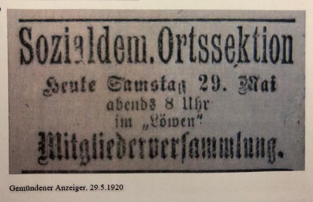 Mitgliederversammlung 1920